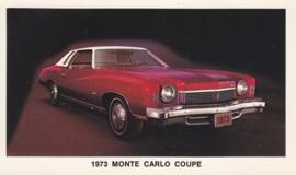 Monte Carlo Coupe,  US postcard, standard size, 1973
