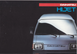 HiJet Van brochure, 8 pages + specs., about 1988, A4-size, Dutch language