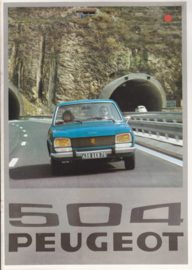 504 Sedan brochure, 16 pages, A4-size, 1976, Dutch language