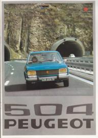 504 Sedan brochure, 16 pages, A4-size, 1976, Dutch language