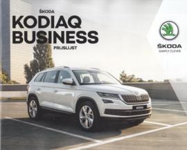 Kodiaq Business pricelist brochure, 20 pages, 01/2018, Dutch language
