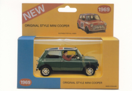 Classic Mini Cooper merchandise postcard,  DIN A6-size, English language