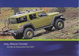 Jeep Rescue Concept, A6-size postcard, Paris 2004