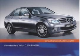 Mercedes-Benz Vision C 220 Bluetec, A6-size postcard, Geneva 2007