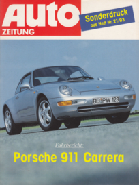 911 Carrera magazine reprint, 4 pages, 1993, German language