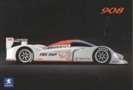 908 V12 HDi FAP race car, A6-postcard, French language, 2006