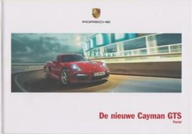Cayman GTS brochure, 44 pages, 03/2014, hard covers, Dutch