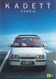 Kadett Cabrio brochure, 8 pages, 03/1987, Dutch language