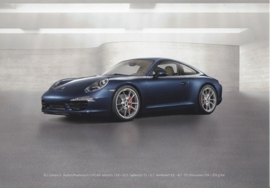 911 Carrera S Coupe, A5-size stiff card, factory-issue, about 2012