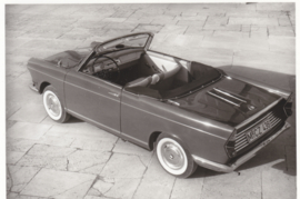 700 Cabrio 2 cyl., DIN A6-size photo postcard, 1961-63, 4 languages