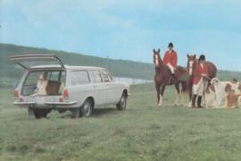 Volga GAZ-2402 Station Wagon, advertising postcard, USSR, 1970s