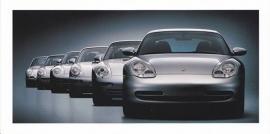 911 - 6 generations,  foldcard, 1998, WVK 197 800 (white blinkers)