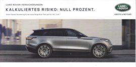 Velar insurance  brochure, 6 smaller pages, 2017, German language