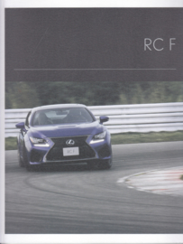 Lexus RC F brochure, 58 pages, 2015, English language