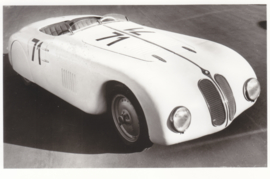 "Racing Sports car ""Mille Miglia""6 cyl., DIN A6-size photo postcard, 1939-40, 4 languages"