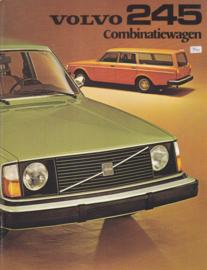 245 Combinatiewagen brochure, 8 pages, Dutch language, 1975