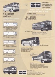 Van Hool T8 chassis leaflet, 2 pages, A4-size, 01/1981, Dutch language (Belgium)