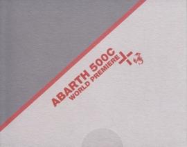 500C 1.4 16V T-Jet foldcard + insert, 15 x 12 cm, German language, about 2012