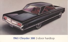 300 2-Door Hardtop, US postcard, large size, 1965