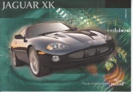 XK R Coupe, large postcard, 16 x 11 cm, 12/01, Italia