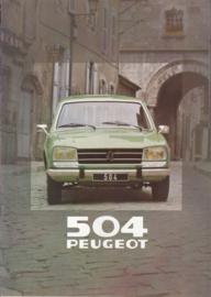 504 Break brochure, 16 pages, A4-size, 1980, Dutch language