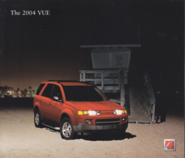 VUE 2004 brochure, 10 pages, # Autovue04MY, USA