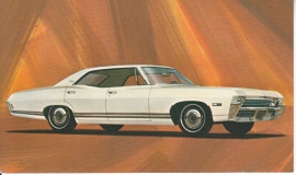 Caprice 4-Door Sedan, US postcard, standard size, 1968