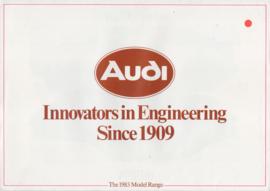 Program brochure, 6 pages, 10/1982, English language