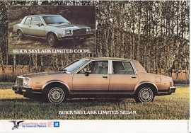 Skylark Sedan & Coupe 1980, 2 pages, 1980, export, Dutch language