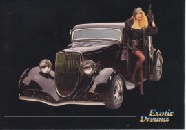 Ford 3 Window Coupe 1934 collector card, small size,  Exotic Dreams issue, 1992 (# 61)