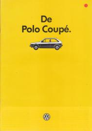 Polo Coupé brochure, A4-size, 16 pages., 8/1985, Dutch language