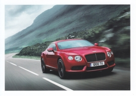 Continental GT V8, A6-size postcard, about 2014, English
