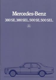 380&500 SE/SEL brochure, 34 pages, 7/1982, Dutch language