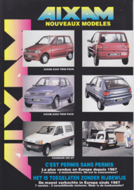 Aixam city cars brochure, 12 pages, about 1996, Dutch/French language