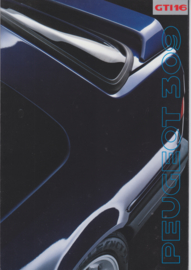 309 GTi 16 brochure, 16 pages, A4-size, 1990, Finnish language