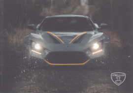 Zenvo TS1 sports car, A5-size postcard, factory-issued, 2018, month: February