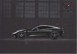 Corvette Stingray 6.2L 2016, 2 heavy cardboard pages, export, English language, DIN A5