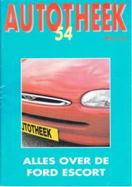 Escort Autotheek # 54 booklet, 36 pages, size A5, 04/1995, Dutch language