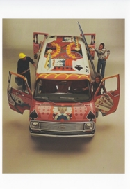 G-Series Van 1977, A6 size postcard, 100 years of Chevrolet by GM Europe, 2011