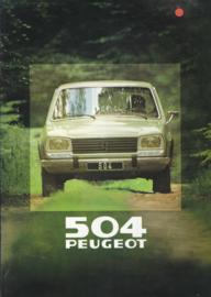 504 Sedan brochure, 16 pages, A4-size, 1980, Dutch language