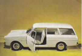 Ford Taunus 12M  2-door Wagon, advertising postcard, German, # 3 XD 154