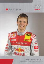 DTM racing driver Matthias Ekström, unsigned postcard 2005 season, German language