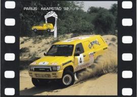Toyota Paris-Capetown 1992 rally, sticker, 10 x 14 cm