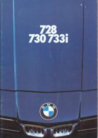 728/730/733i Sedan brochure, 48 pages, A4-size, 1/1977, Dutch language