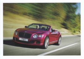 Continental GT Speed Convertible, A6-size postcard, about 2014, English