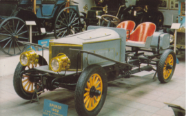 Spyker 6 cylinder 1902, Car Museum Driebergen, regular size postcard, Dutch, number 506/4