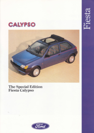 Fiesta Calypso brochure, 6 pages, 11/1991, English language, UK