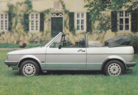 VW Golf Cabriolet by Karmann,  A6-size postcard, 1980s, German