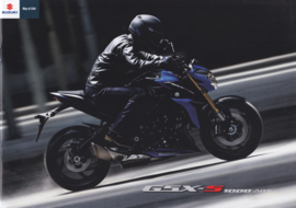 Suzuki GSX-S 1000 ABS brochure, 16 pages, #99994-S1000-BRO, 2016, Dutch language