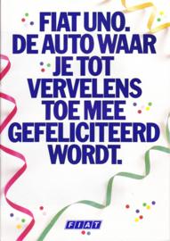 Uno brochure, 28 pages (A4), 01/1987, Dutch language